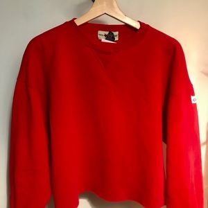 Vintage limited cropped red crew neck